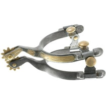Fancy Engraved Gold Silver Spurs 35190