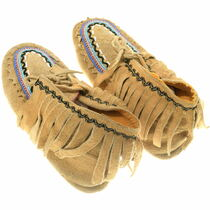 Authentic Native American Beaded Moccasins 35200