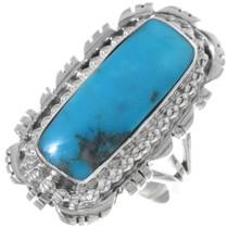 Top Quality Kingman Turquoise Ring 35203