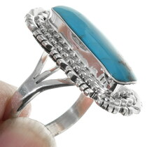Navajo Turquoise Sterling Silver Ladies Ring 35203