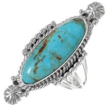 Navajo Turquoise Ladies Pointer Ring 35204