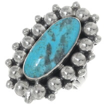Kingman Turquoise Silver Ladies Ring 35205