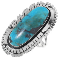 Turquoise Silver Navajo Ring 35206
