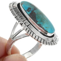 Deep Blue Kingman Turquoise Ring 35206
