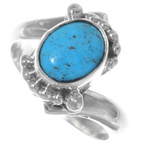 Turquoise Sterling Silver Navajo Ring 35210