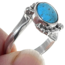 Navajo Made Turquoise Ladies Ring 35210