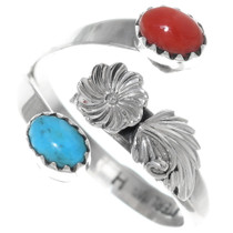Turquoise Coral Ladies Ring 35211