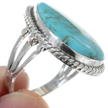 Kingman Turquoise Sterling Silver Ring 35213