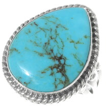 Navajo Turquoise Teardrop Ring 35213