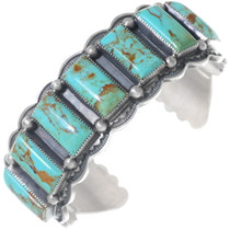 Navajo Sterling Silver Turquoise Cuff Bracelet 35215