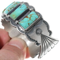 Native American Turquoise Silver Western Bracelet 35215