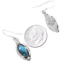 Turquoise Silver Western Earrings 35216