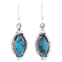 Navajo Turquoise Dangle Earrings 35216