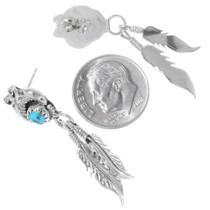 Navajo Made Turquoise Western Dangle Earrings 35219
