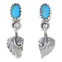 Turquoise Silver Earrings 35220
