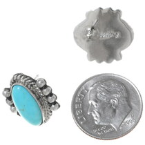 Sterling Silver Turquoise Stud Earrings 35221