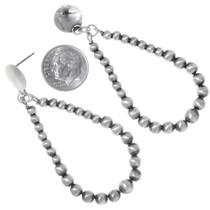 Navajo Sterling Silver Bead Earrings 35223