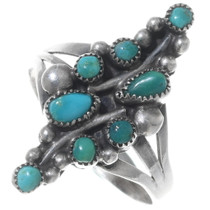 Old Pawn Green Turquoise Ring 35226