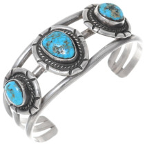 Old Pawn Turquoise Silver Cuff Bracelet 35227