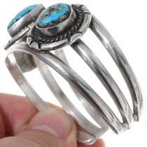 Vintage Kingman Turquoise Navajo Bracelet 35227