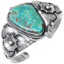 Old Pawn Turquoise Silver Cuff Bracelet 35233