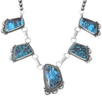 Southwest Western Turquoise Y Necklace 35239