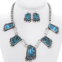 Bisbee II Turquoise Navajo Link Necklace 35239