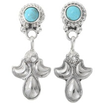 Native American Southwest Turquoise Earrings 35242