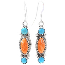 Turquoise Spiny Oyster Earrings