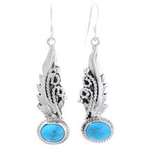 Turquoise French Hook Dangle Earrings 35245