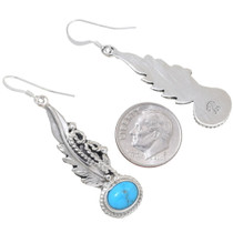 Navajo Sterling Silver Turquoise Earrings 35245