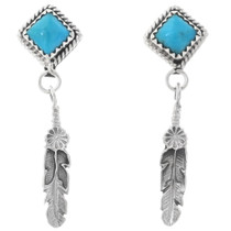 Navajo Turquoise Post Earrings 35246