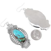 Sterling Silver Turquoise hand Made Navajo Earrings 35249