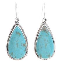 Turquoise Teardrop Dangle French Hook Earrings 35251