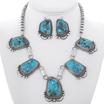 Turquoise Navajo Y Necklace Set 35260