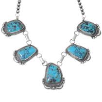 Bisbee II Turquoise Native American Necklace 35260