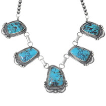 Bisbee II Turquoise Native American Necklace 35260