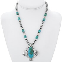 Ray Delgarito Turquoise Mountain Necklace 35262