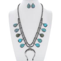 Turquoise Squash Blossom Necklace Set 35263