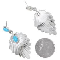 Silver Fan Western Turquoise Earrings 35265
