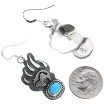 Heartline Bear Paw Sterling Silver Earrings 35267
