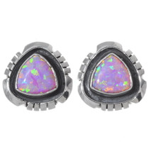 Navajo Fire Opal Earrings 35269