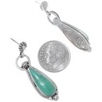 Green Turquoise Dangle Earrings 35270