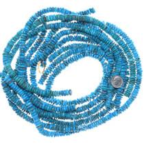 Deep Blue Kingman Turquoise Heishi Beads 34777
