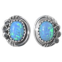 Navajo Fire Opal Post Earrings 35272