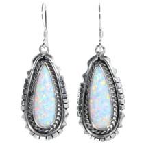 Navajo Fire Opal Earrings 35273