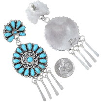 Zelda Begay Turquoise Cluster Earrings 35278