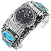Vintage Sleeping Beauty Turquoise Watch Cuff 35285