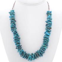 Old Pawn Fox Turquoise Necklace 35294