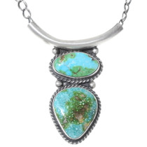 Royston Turquoise Navajo Pendant Necklace 35301
